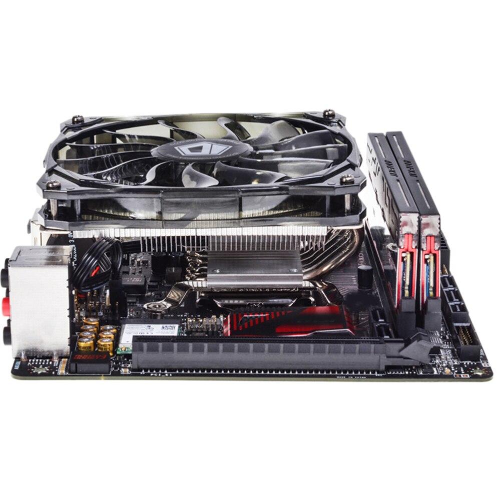 130 Вт Низкопрофильная/тонкая система ITX/HTPC, кулер для ЦП с 6 тепловыми трубками, вентилятор 120 мм, совместим с Intel и AMD
