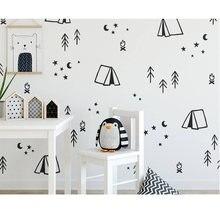 Модная виниловая палатка для детской комнаты наклейки декор