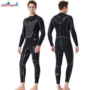 Image 3 - Fullbody Mannen Vrouwen 3Mm Neopreen Wetsuit Surfen Zwemmen Duiken Zeilen Kleding Scuba Snorkelen Koud Water Triathlon Nat Pak