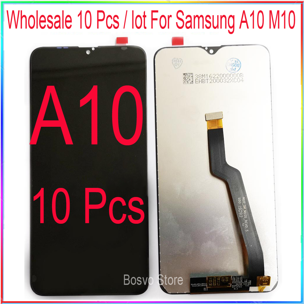 wholesale 10 pcs/lot for <font><b>Samsung</b></font> A10 <font><b>LCD</b></font> <font><b>M10</b></font> screen display A105 M105 with touch with frame assembly Replacement repair parts image