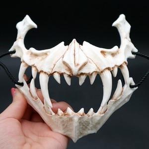 Image 4 - 17 stil Drachen Gott Maske Cosplay Prop Tengu Tiger Maske Halloween Harz Tier Thema Masken