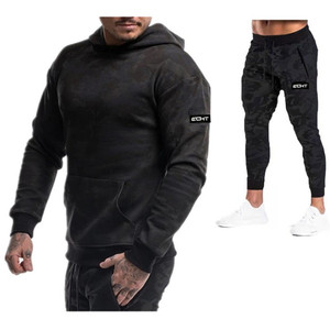 Image 3 - 2019 Autumn Winter Running Set Men Sport Suits Hoodies Pants Sets Sweatshirt +Sweatpants Sportswear Gyms Fitness Tracksuit Male
