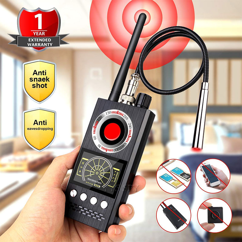 K68 Anti Spy Wireless RF Signal Detector Bug GSM GPS Tracker Hidden Camera Eavesdropping Device Military Professional Version