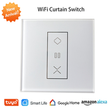 Tuya Smart Home WiFi EU Roller Shutter Switch for Electric Curtain Motor Blinds Shades Switch Works with Alexa Google Home Siri