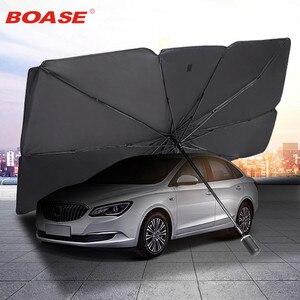 Защитный тент для автомобиля, зонт от солнца на переднее стекло и аксессуары защиты интерьера авто товары
