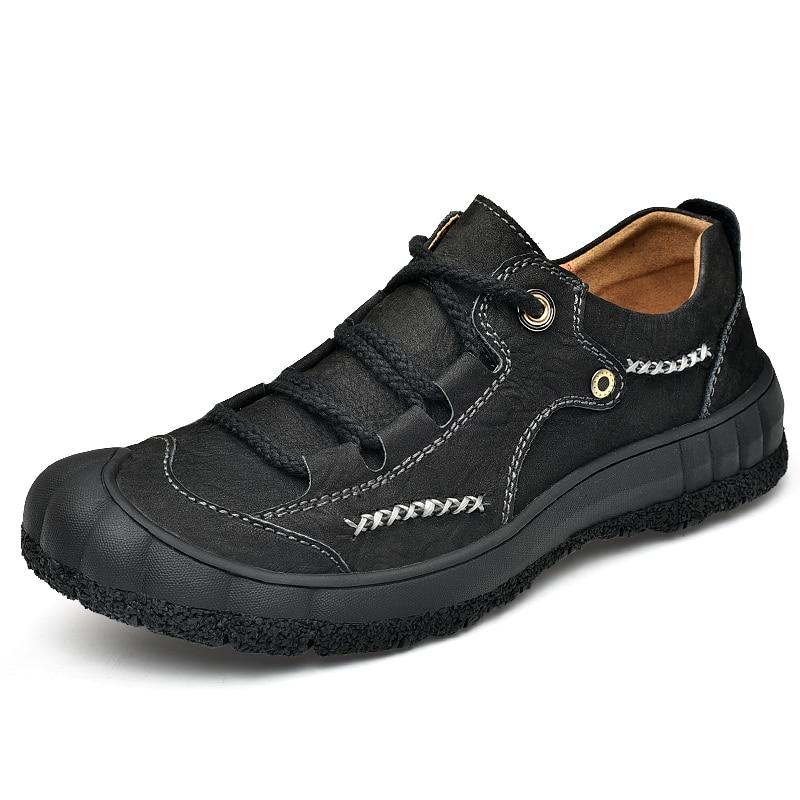 Waterproof outdoor Men Hiking Shoes Large size 48 trekking shoes Climbing & Fishing Shoes Autumn Genuine leather men sneakers