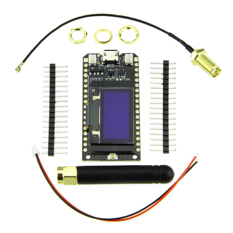 TTGO LORA32 <font><b>ESP32</b></font> <font><b>LoRa</b></font> <font><b>OLED</b></font> 0.96 inch blue screen Bluetooth WIFI 868Mhz 915MHz <font><b>Lora</b></font> development board image