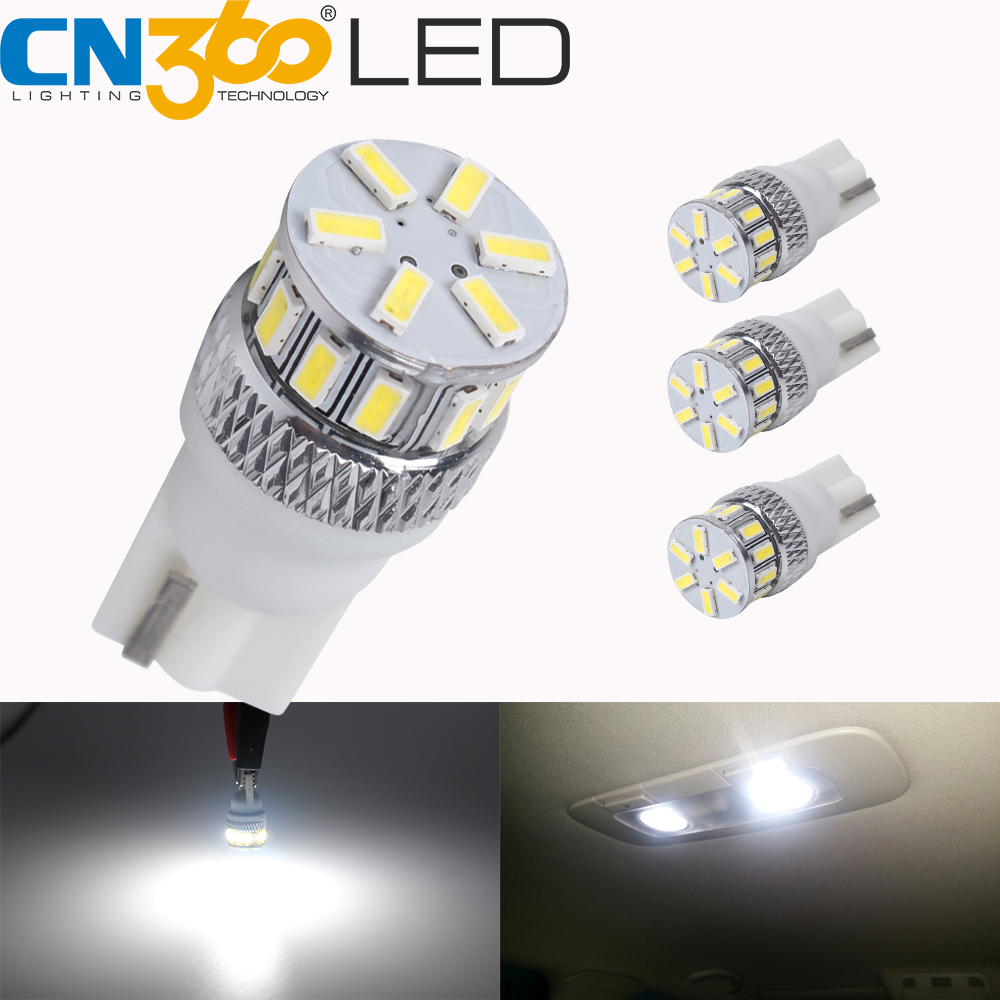 4X T10 3030LED Amber//Yellow High Power Dome Map Interior Light Bulb 192 194 2825