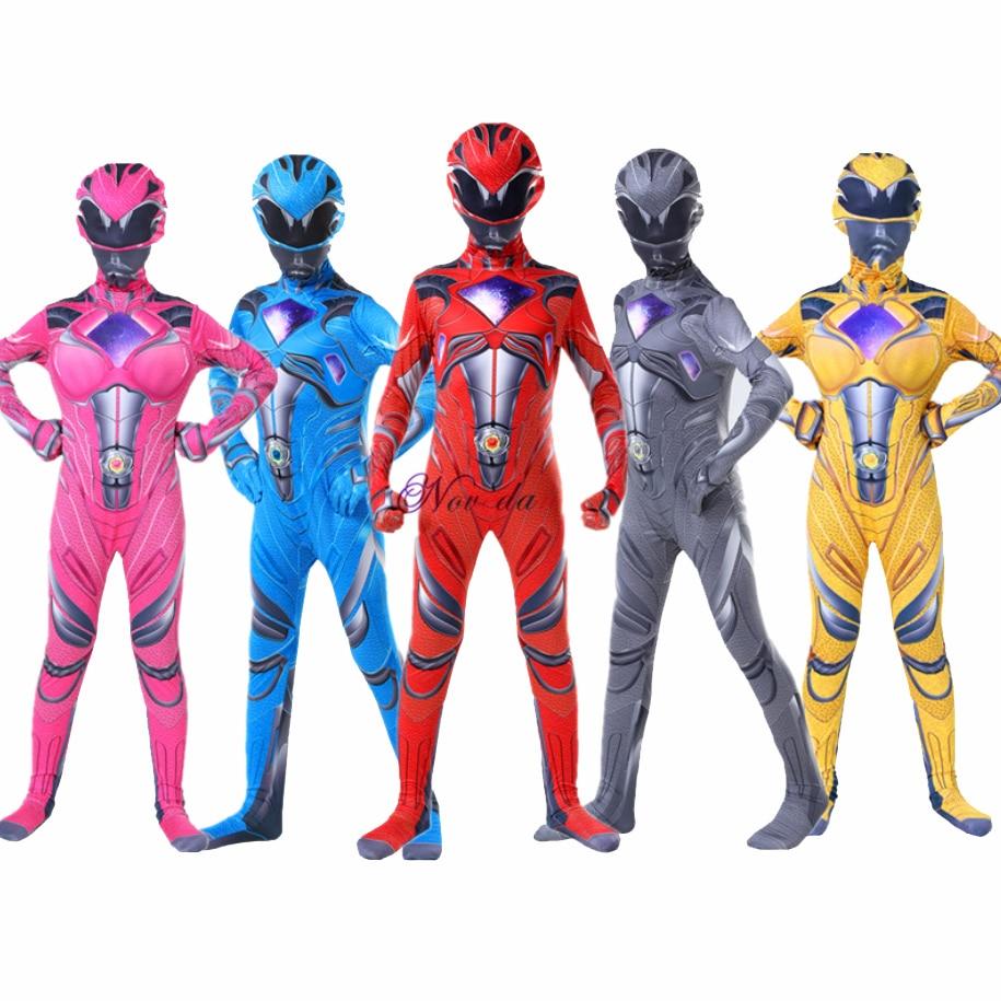 Boys Power Mecha Five Beast Costume Kids Child Mystic Force Superhero Red Ranger Party Cosplay Halloween Carnival Suit