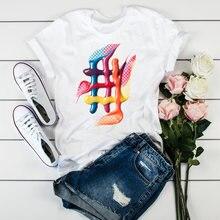 Ulzzang Женская мода 2020 3d принт макияж милые топы футболки