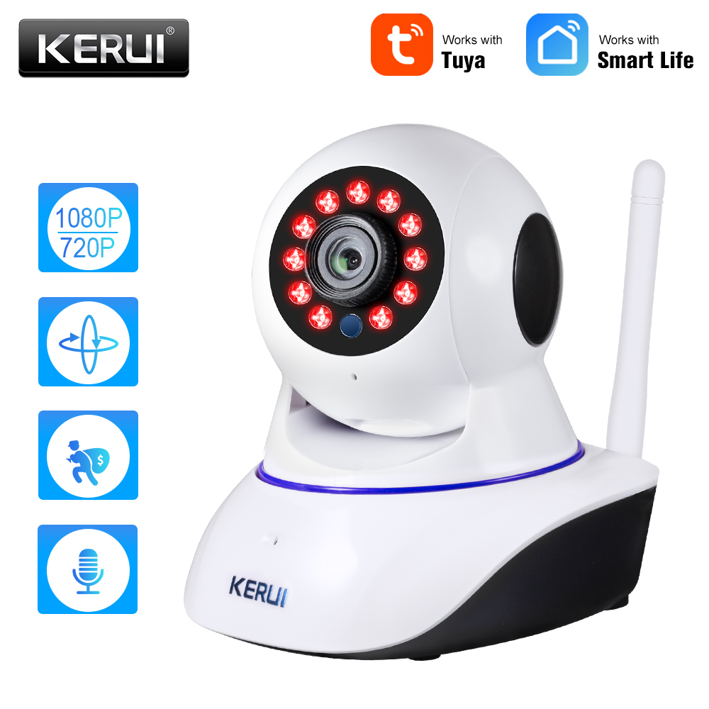 KERUI 720P 1080P Mini Indoor Wireless Security Wifi IP Camera Home CCTV Surveillance Camera 1MP 2MP Tuya Smart Life Night Vision