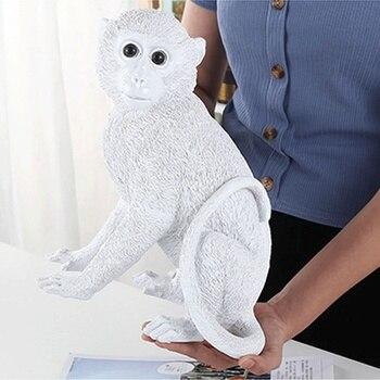 Simulation Resin Craft Animal Monkey Ornaments Creative Monkey Statue Piggy Bank Fashion Home Decoration Children Room Decor