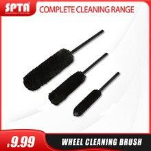 Spta s/m/l escova de limpeza da roda de alta qualidade lã preta escova de limpeza ferramentas de limpeza automática roda carro macio esfrega