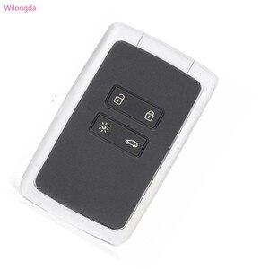 Image 4 - Wilongda 4 taste Auto Smart Remote Key 434mhz PCF7945M HITAG AES 4A Chip Für Renault Megane 4 keyless schlüssel für Talisman Espace5