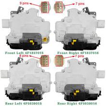 Atuador de bloqueio da porta frente traseira esquerda direita 4f1837015g 4f1837016 4f0839015 4f0839016 para audi a3 a6 8p1 8p7 c6 a8 r8 para seat exeo