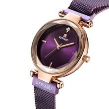 купить Luxury Women Watch Top Brands Stainless Steel Mesh Strap 3ATM Waterproof Round Quartz Wristwatch Rhinestone Relogio Feminino по цене 934.63 рублей