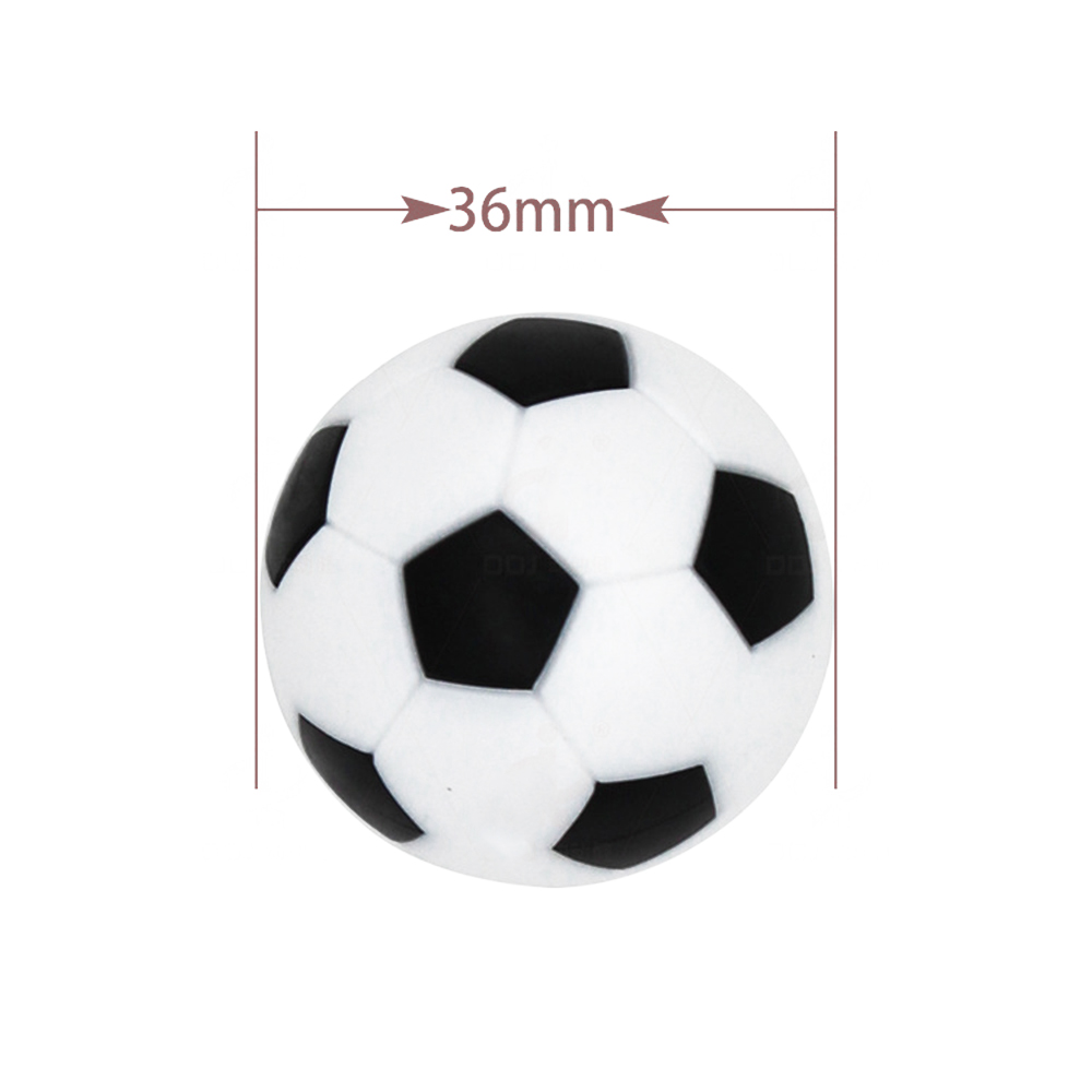 6Pcs Mini Resin Foosball Accessories Table Soccer Football 36mm Kicker Balls