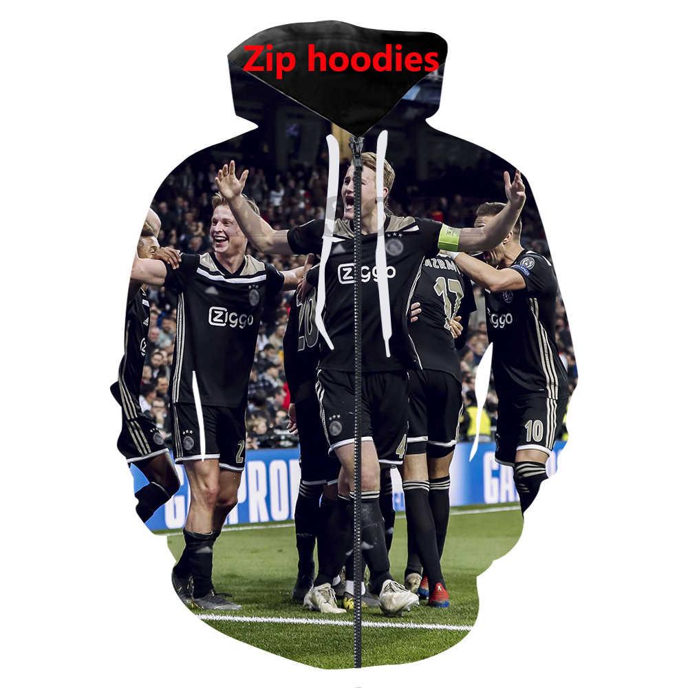 3d принт 2019 Человек Футбол Спортивные футболки/толстовки/брюки повседневные мужские футболки уличная хип хоп пуловер спортивный костюм топы
