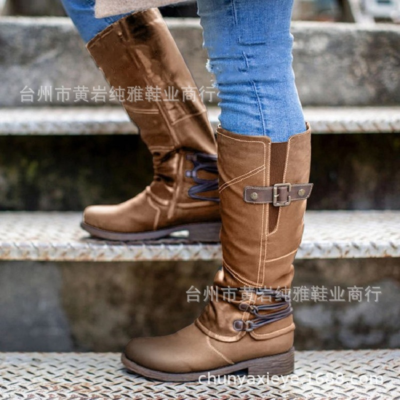 2020 winter new knight boots women's casual high boots plus size women's boots ladies boots boots women