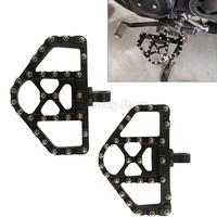 Triangular Wide MX Offroad 360° Roating Male Mount Foot Pegs Footrest Board Suit For Harley