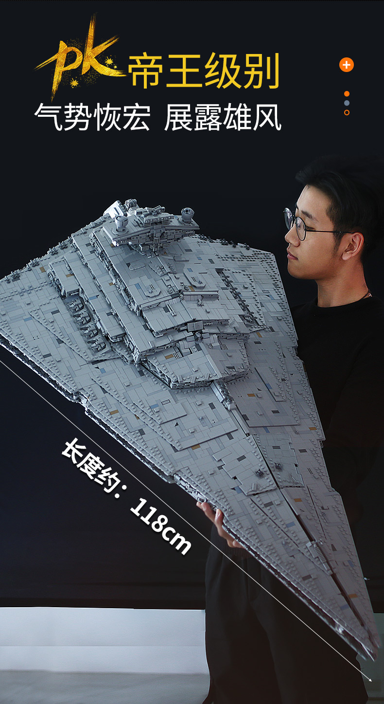 05027 Star Toys Wars The MOC-23556 Imperial Star Destroyer Compatible With Legoing 75252 Kids Christmas Gifts Building Blocks 13