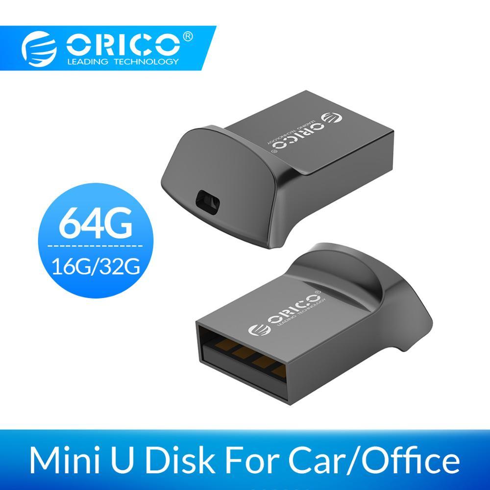 ORICO Mini USB Flash Drive Car USB Disk USB2.0 64GB 32GB 16GB USB2.0 Flash Memory Stick OTG U Disk For Phone/Tablet/PC флешка