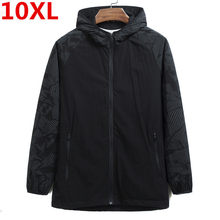 10XL plus size Nuovi uomini di Quick Dry Pelle Giubbotti Cappotti da uomo Ultra-Light casual Giacca A Vento Impermeabile Antivento di Marca abbigliamento(China)
