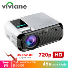 Vivicine Terbaru 720 P Portable LED Proyektor, Pilihan Android Genggam HDMI USB Home Theater Video Game Handheld Projector Proyektor(China)