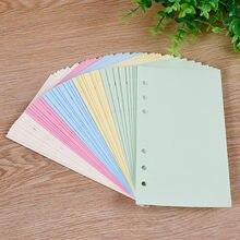 50 листов Kawaii A5 A6 Блокнот со свободным листом пополнения спиральная переплетка с индексной бумагой внутренние страницы цветной ежедневник с...
