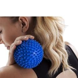 4 farbe PVC hand massage ball PVC sohlen hedgehog Sensorische ausbildung griff der ball Tragbare physiotherapie ball Fangen die ball
