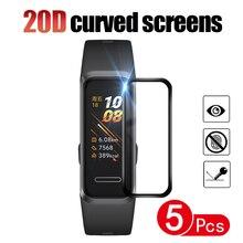 20D полная Защита экрана для Huawei Band B5/4/4 Pro / 4e / 3e Смарт-часы Гидрогелевая защитная пленка (не стекло