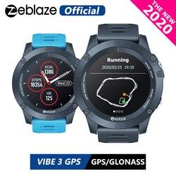 ¡Novedad de 2020! Reloj inteligente Zeblaze VIBE 3 GPS de ritmo cardíaco con múltiples modos deportivos a prueba de agua/mejor duración de la batería, reloj GPS para Android/IOS
