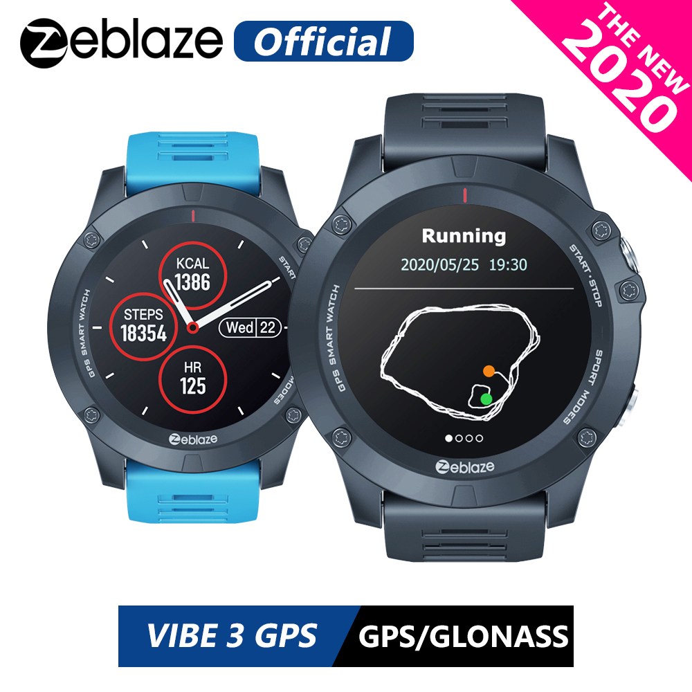 New 2020 Zeblaze VIBE 3 GPS Smartwatch Heart Rate Multi Sports Modes Waterproof Better Battery Life GPS Watch For Android IOS