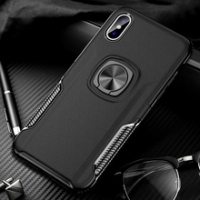 Shockproof Finger Ring Car Holder Stand Case For Apple iPhone 6 6S 7 8 Plus X XS Max XR Case Silicon Back Cover iPhoneX iPhone8 цена и фото