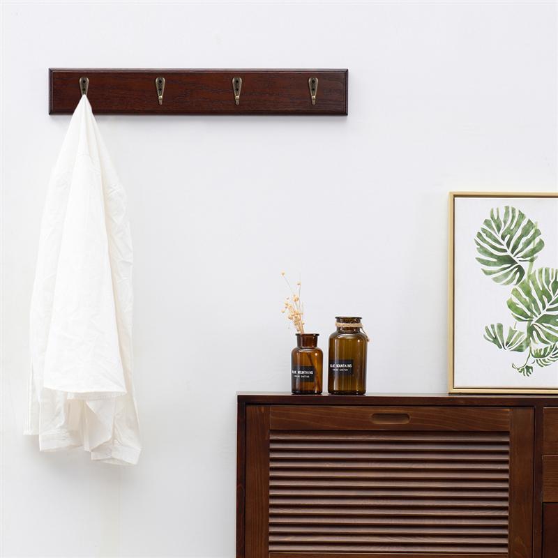 Towels Thread-T 5 Pack Walnut Wooden Hat Hooks Wall Mounted Bedroom Wall Hooks Coat Rack Closet Bathroom,Entryway Hat Rack Towel Hanger Hats Robes Heavy Duty Hooks for Coats