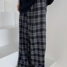 Plaid Pants Leg-Trousers Oversize Streetwear Harajuku Loose Hip-Hop Retro Casual Chic
