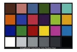 X-Rite ColorChecker (standard 24 color card)