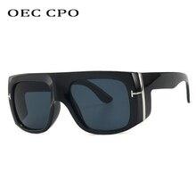 OEC CPO Steampunk Sunglasses Men Vintage Oversize Square Sun Glasses Shades UV400 O263