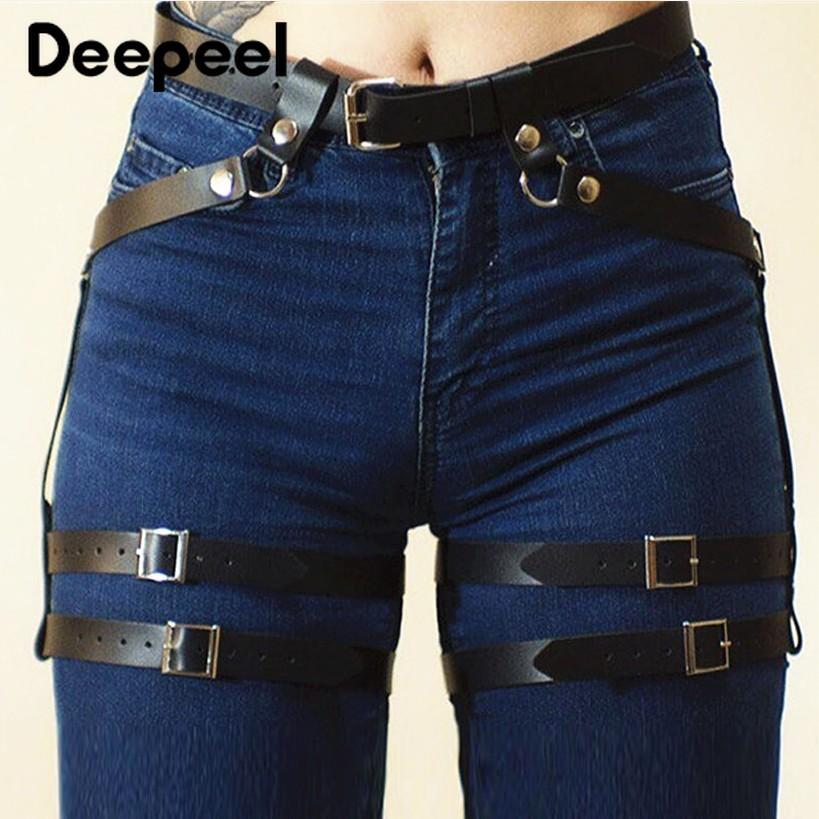 Deepeel 1pc 70cm-100cm Ms. Punk Style Binding Cummerbunds Leg Ring Hip-hop Performance Jewelry Wild Fashion Cummerbunds YK678
