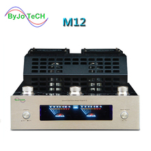 цена на ByJoTeCH M12 HI-FI Bluetooth Vacuum Tube Amplifier support USB power amplifier BASS hifi output 2 support 220V or 110V