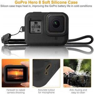 Image 5 - Accessoire Kit Voor Gopro Hero 8 Zwart Waterdichte Behuizing Case Gehard Glas Screen Protector Filter Kit Voor Go Pro Accessoires