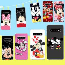 Penghuwan Mickey Minnie Mouse Telefoon Case Cover Voor Samsung S9 Plus S5 S6 S7 Rand S8 S10 Plus(China)