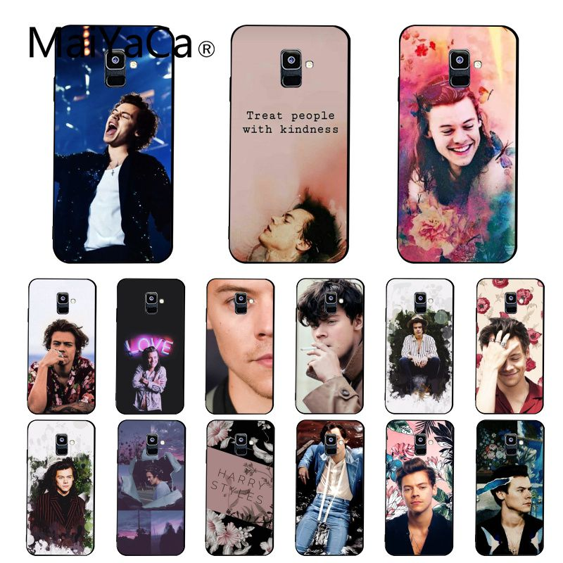 Maiyaca <font><b>Harry</b></font> <font><b>Styles</b></font> Treat People With Kindness <font><b>Phone</b></font> <font><b>Case</b></font> For <font><b>Samsung</b></font> Galaxy A7 A50 A70 A40 A20 A30 A8 A6 A8 Plus A9 2018 image