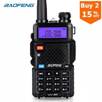 Портативная рация BaoFeng UV-5R, радиостанция двухсторонней связи обновленной версии, 128 каналов, 5 Вт, УКВ УВЧ, 136-174 МГц и 400-520 МГц