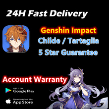Genshin Impact Choose Two Five-Star Travelers Account DILUC JEAN QIQI MONA ZhongLi Albedo Account America EU Asia 24H Delivery cheap NONE CN(Origin) game account genshin impact account