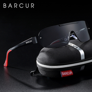 Image 4 - BARCUR אלומיניום מגנזיום גברים של משקפי שמש טייס נהיגה מקוטבות צרות עדשה איש שמש זכוכית נשים Gafas דה סול גוונים
