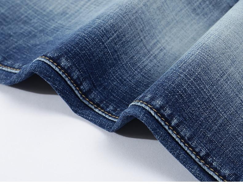 Jeans Men Light Blue Stretch Slim Straight Regular Fit Casual Jeans Male Denim Pants Male Long Trousers Top Quality Plus Size 40 17