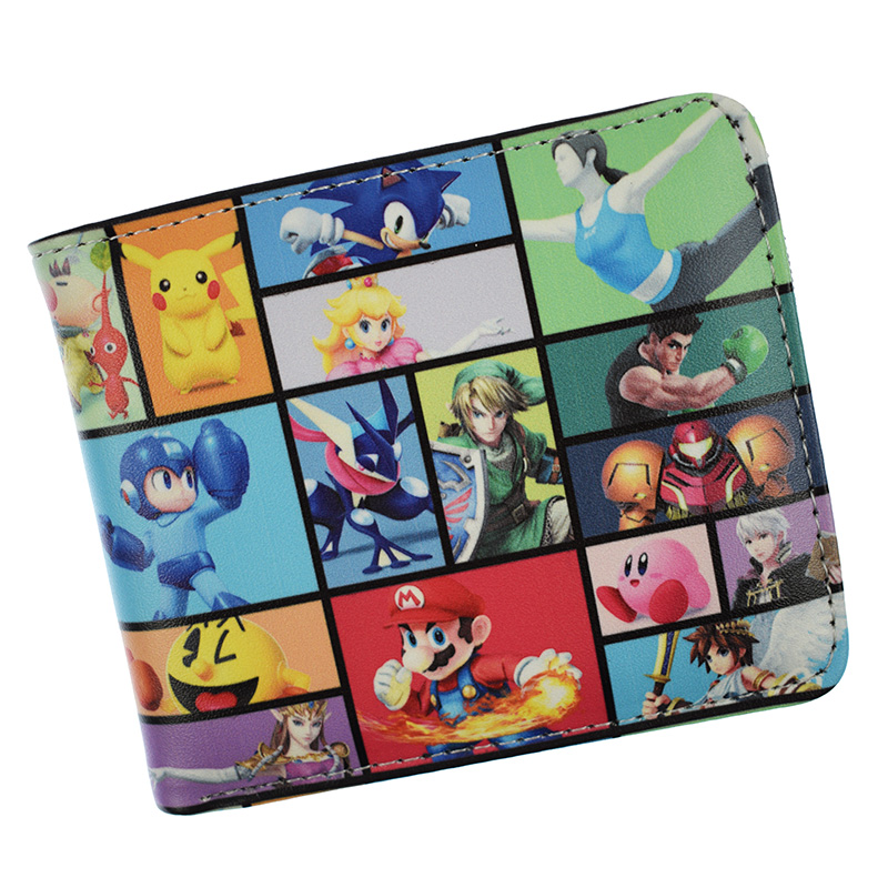 Hot Sell Super Smash Bros Short Wallets With Coin Pocket For Young