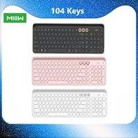 Tastiera MIIIW Bluetooth Dual Mode 104 tasti tastiera per Tablet portatile Wireless compatibile con sistema multiplo da 2.4GHz