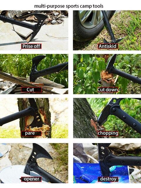 Hammer Axe Garden Tomahawk Outdoor Hunting Camping Survival Machete Axes Hand Tools Machete Axe Hatchet Tactical Battle Knife 6